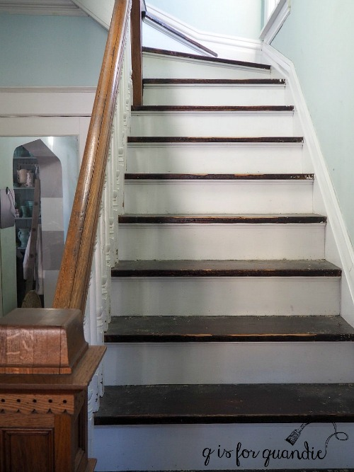 Please watch your step q is for quandie for Painted stair treads