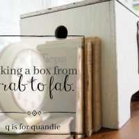 taking a box from drab to fab.