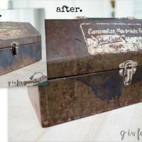 a rusty toolbox.