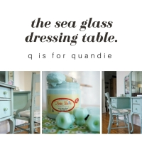 the sea glass dressing table.