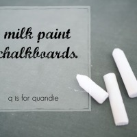 milk paint chalkboards.