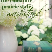 the romantic prairie style washstand.