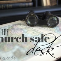 the church sale desk.