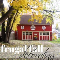 frugal fall decorating.