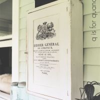 the vintage medicine cabinet.