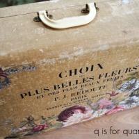 the belles fluers suitcase.